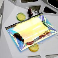 Hot - Stamping TPU Film PVC Cosmetic Bag For Girl / Clear Makeup Organizer Manufactures