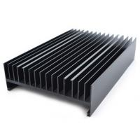 Powder painted Aluminium Heatsink Extrusions Black With CNC Machining Manufactures