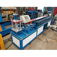 Steel aluminium roller shutter door slat forming machine with hydraulic cutting device Manufactures