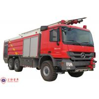 Benz Chassis Airport Fire Fighting Vehicles , Approach Angle 30° Heavy Rescue Fire Truck Manufactures