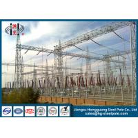 Quality Power Transformer Substation Steel Structures Conical , Round for sale