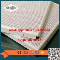 aluminum perforated acoustic ceiling panel for building decoration Manufactures