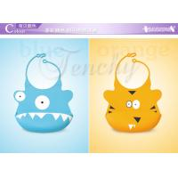 2014 New Design Beautiful Cute Silicone Baby Bib Manufactures