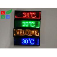 Quality Rechargable Blue Red Yellow Programmable LED Name Badge Sign In Worldwide Languages for sale