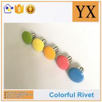 Buy cheap High Quality Hollow rivets for stationery Colorful metal fastener rivets from wholesalers