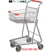 Chrome Plating Grocery Shopping Trolley 40L / Supermarket Shopping Carts