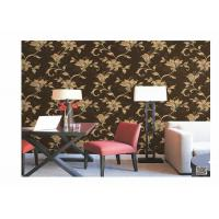 Home Decoration PVC Embossed Wallpaper Waterproof With European Flower