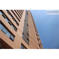 18mm 30mm 20mm Thick Terracotta Cladding Building Facade , Exterior Cladding Materials Manufactures