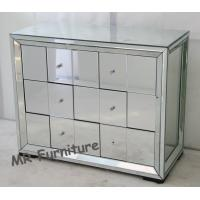 Full Mirrored Tall Chest Of Drawers , Glass Silver Mirrored Chest Of Drawers Manufactures