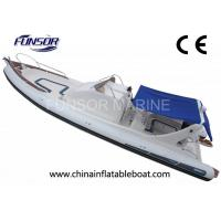 Large 9.6m PVC Fishing Inflatable Rib Boats 20 Person With Hydraulic Steering System Manufactures