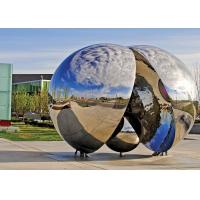 Contemporary Outdoor Metal Sculpture Polished Finishing Corrosion Stability Manufactures