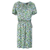 Spring Viscose Woven printed Long Ladies Casual Dresses with cotton lurex belt Manufactures