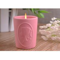 Character Candle Cup Holders Ceramic Candle Containers With Candle Light Manufactures