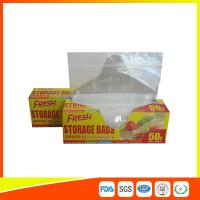 Food Preservation Freezer Zip Lock Bags Reusable For Home / Supermarket Use Manufactures