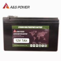 China 12V 7Ah Auto Battery Stater Battery Lithium Ion Rechargeable Battery Lifepo4 Ebike Battery manufacturer on sale