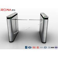 Shopping Mall Drop Arm Turnstile Gate 304 Stainless Steel 2 RFID Readers Windows Manufactures