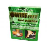China Herbal bamboo Natural detox foot patch , Happy feet detoxifying foot pads 10 pieces/box on sale