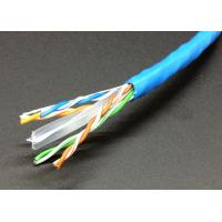 Network Lan Cable UTP Cat6 4 Pairs 23AWG CCA Copper Clad Aluminum in 305m Pull Box Manufactures