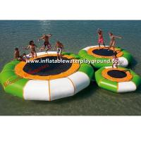 Round Water Sports Toys Inflatable Floating Water Trampoline Water Jumping Bed Manufactures