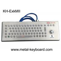China EXibIIB T6 Rugged Keyboard Stainless Steel Material With Trackball Mouse on sale