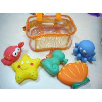 Quality 8.5cm Length Squeezing Rubber Bath Toys Phthalate Free Vinyl Crab / Octopus for sale