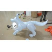 Indoor / Outdoor Event PVC Inflatable Advertising Products White Inflatable Dog Manufactures