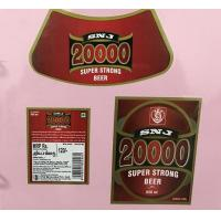 China Custom Made Self Adhesive Beer Labels Square Matte / Glossy Lamination on sale