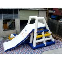 White Blue Floating Water Slide Inflatable Tower Blob For Aqua Park Manufactures