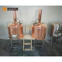 China 3HL Red Copper Beer Brewing Equipment With Electric Temperature Control on sale