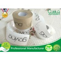 Brown / White Color Kraft Paper Tape Customized Reinforced Gummed Kraft Paper Tape Manufactures
