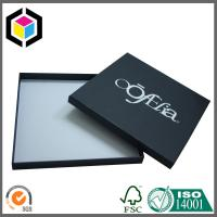 Silver Foil Print Custom Logo Matte Black Paper Chipboard Gift Packaging Box Manufactures