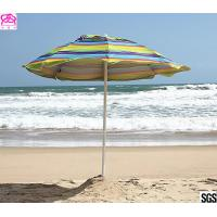 SNAIL 6ft Folded Sun Beach Umbrella with Tilt Portable Silver Coating Inside UV Protection Stripe Manufactures