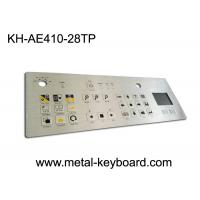 IP65 Dustproof Rugged Industrial Metal Stainless Steel Keyboard with Touchpad Manufactures