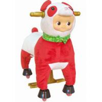 Personalized Red Plush Stuffed Toys Animals Sheep , Cool Baby Stuffed Toy Manufactures