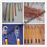 China Copper grounding rod&earth rods,Short-circuit Grounding operation Pole on sale