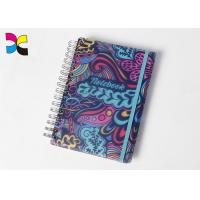 China A6 Spiral Notebook Printing Colorful Round Corners PVC With Elastic Band on sale