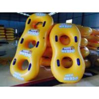 Yellow Inflatable Swim Ring Inflatable Water Toys For Offshore / Pool Manufactures