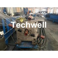 Aluminum Or Galvanized Steel Round Downspout Roll Forming Machine For Making Water Pipe, Rainwater Manufactures