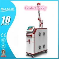 Buy cheap Beijing SANHE Q-switch nd yag laser for different colors tattoo removal and skin from wholesalers