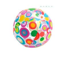 24 Inch Inflatable Beach Ball Splashy Flower Design Lively Print Fun Party Toys Manufactures