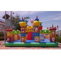 PVC Tarpaulin Safe Inflatable Bouncy Castle Combo Trampoline For Children Manufactures