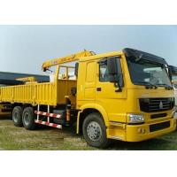 China High Performance Telescoping Boom Truck Mounted Crane 6X4 290HP 14.5m Lifting Height on sale