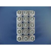 China conductive rubber keypad white on sale