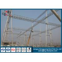 230KV Electrical Power Substation Steel Structures With Hot Dip Galvanization Manufactures