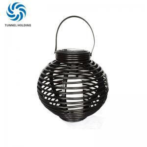 Porch Solar Powered Garden Lanterns , 3500K - 4200K Patio LED Solar Rattan Lamp Manufactures