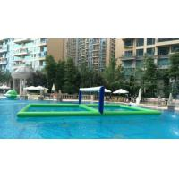 PVC Tarpaulin Outdoor Water Volleyball Court Inflatable , Floating Inflatable Ball Game Manufactures