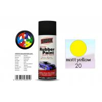 Higher Adhesive Removable Rubber Spray Paint , Matt Yellow Color Auto Spray Paint Manufactures