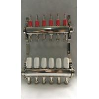 Stainless Steel 304 Floor Hydronic Heating Manifold / Brass Water Manifold Manufactures