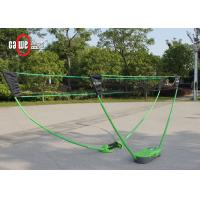 Children Folding Badminton Set With Pop Up Net Adjustable Height 2 Players Manufactures