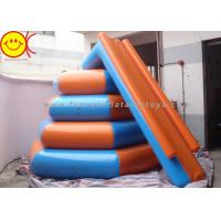 Airtight 0.9mm PVC 4m In Diameter And 3m In Height Inflatable Floating Water Slide Manufactures